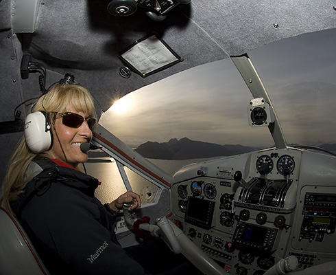 Share Michelle's love of flying through our vast Alaskan wilderness.