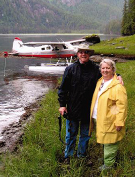 Island Wings flightseeing clients on a Misty Fiords tours.